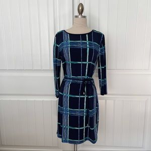 Forever 21 Blue Plaid Pattered Dress